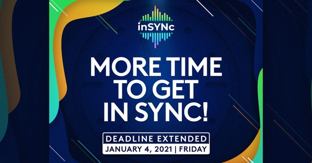 More time to get inSYNc: music contest extends deadline until January 2021